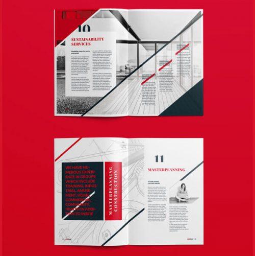 طراحی کاتالوگ شرکت معماری